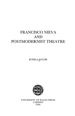 Francisco Nieva and Postmodernist Theatre PDF