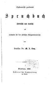 Systematisch geordnetes Spruchbuch: als Leitfaden für den jüdischen Religions-Unterricht