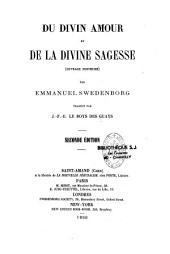 Du divin amour et de la divine sagesse, (ouvrage posthume)