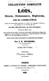 Collection complète des lois, décrets d'intérét général, traités interanationaux, arrêtés, circulaires, instructions, etc: Volumes9à10