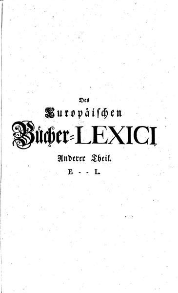 Allgemeines Europ  isches B  cher Lexicon