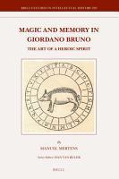 Magic and Memory in Giordano Bruno PDF