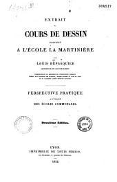 Extrait de cours de dessin professé à l'école la Martinière: Volume1