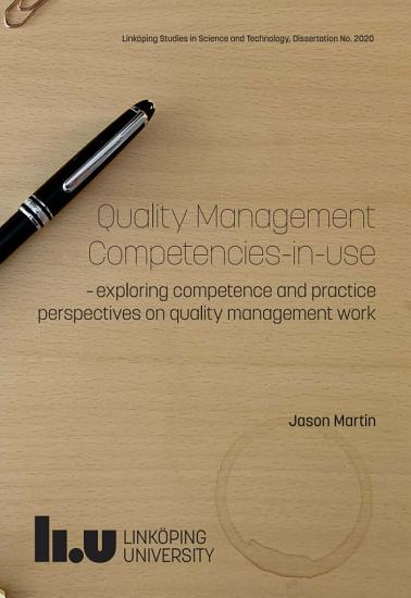 Quality Management Competencies in use PDF