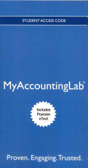Myaccountinglab With Pearson Etext Instant Access For Horngren S