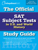 The Official SAT Subject Tests in U S    World History Study Guide Book