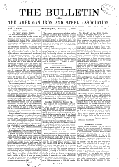 The Bulletin of the American Iron and Steel Association: Volume 39
