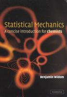 Statistical Mechanics PDF