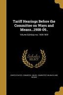 TARIFF HEARINGS BEFORE THE COM