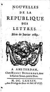 Nouvelles de la republique des lettres