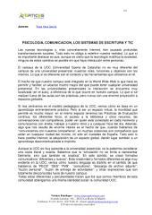 PSICOLOGIA, COMUNICACION, LOS SISTEMAS DE ESCRITURA Y TIC
