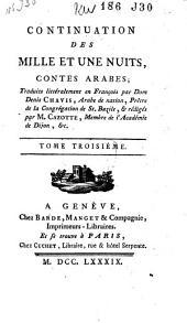 """Continuation des """"Mille et une nuits"""", contes arabes: Volume3"""