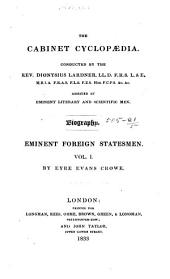 Lives of the Most Eminent Foreign Statesmen: Volume 1