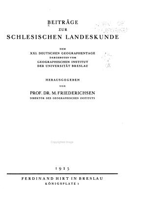Beitr  ge zur schlesischen Landeskunde  Dem XXI  PDF