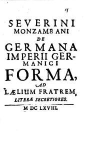 De germana Imperii germanici forma