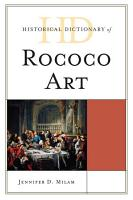 Historical Dictionary of Rococo Art PDF