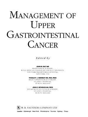 Management of Upper Gastrointestinal Cancer