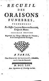 Recueil des Oraisons funebres