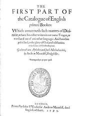 The Catalogue of English Printed Books  1595 PDF
