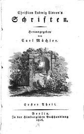 Schriften: Volume 1