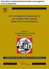 23 European Symposium on Computer Aided Process Engineering: Estimation of enhanced heat transfer area targets in process industries