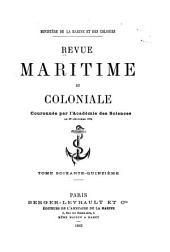 Revue maritime et coloniale: Volume75