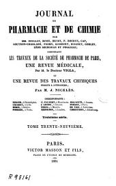 Journal de pharmacie et de chimie: Volume39;Volume1861