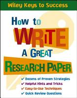 How to Write a Great Research Paper PDF