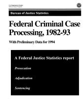 Federal Criminal Case Processing, 1982-93