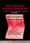 Directions in General Relativity: Volume 1