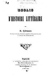 Essais d'histoire littéraire