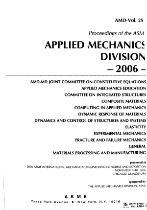 Proceedings of the ASME Applied Mechanics Division PDF