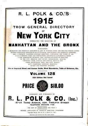 New York City Directory