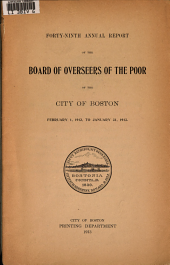 Annual Report of the Board of Overseers of the Poor of the City of Boston