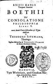 De consolatione philosophiae libri quinque