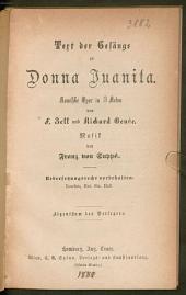 Text der Gesänge zu Donna Juanita: komische Oper in 3 Acten
