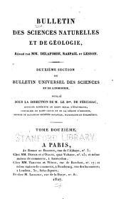 Bulletin des sciences naturelles et de géologie: Volume12