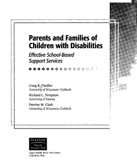 Parents and Families of Children with Disabilities Book