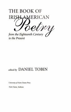 The Book of Irish American Poetry PDF