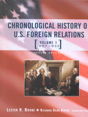 Chronological history of U. S. foreign relations