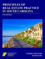Principles of Real Estate Practice in South Carolina PDF