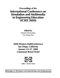 Proceedings of the International Conference on Simulation and Multimedia in Engineering Education  ICSEE 2000  PDF