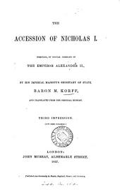 The accession of Nicholas i. Transl