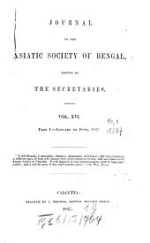 Journal of the Asiatic Society of Bengal: Volume 16, Page 1