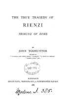 The True Tragedy of Rienzi PDF