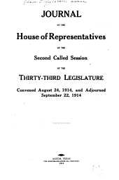 Journal of the House of Representatives: Volume 33