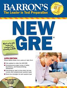Barron s New GRE with CD ROM Book