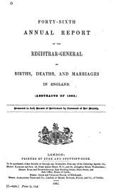 Annual Report ... of Births, Deaths, and Marriages in England and Wales