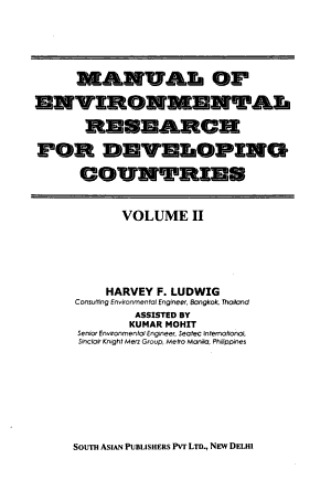 Manual of Environmental Research for Developing Countries PDF