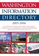 Cq Press: Washington Information Directory; 2015-2016